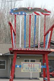 16 best art downtown images on pinterest ohio buckeyes and huge patriotic rocking chair at james tax service in warren ohio