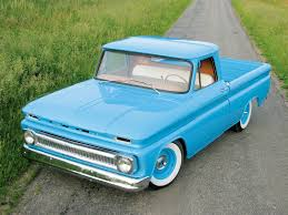 1966 chevy c10 pickup truck custom baby blue paint job fantastic