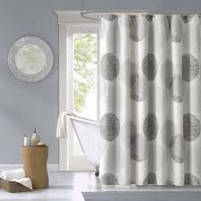 Matching Bathroom Window And Shower Curtains Bathroom White Bathroom Shower Curtain With Tree Design