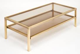 coffee table modrest vector modern smoked glass stainless steel