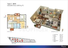 1030 sq ft 2 bhk floor plan image mjr platina available rs
