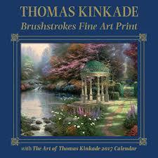 thomas kinkade halloween thomas kinkade brushstrokes fine art print with 2017 wall calendar