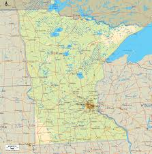 Lake Maps Mn Physical Map Of Minnesota Ezilon Maps
