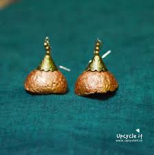 paper mache earrings paper jewellery e waste earring green trader retailer from chennai