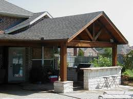 Ideas For Patios Decor Tile Roof Design Ideas With Wooden Pillars Also Covered