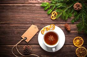 krus ornament bildet tre vinter te produsere ferie drikke jul krus