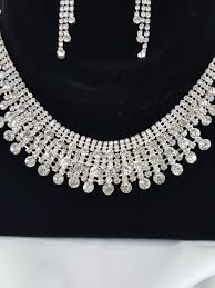 rhinestone necklace earrings images Sophia collection fashion rhinestone necklace earrings set crystal jpg
