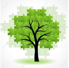 abstract tree puzzle colorful background royalty free cliparts