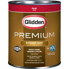 glidden premium 1 qt flat latex exterior paint gl6113 04 the