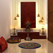 chic lighting colorful add ons complete this pooja room pooja