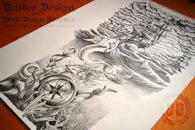 creating a full sleeve tattoo design dark design graphics