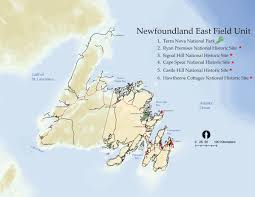 Newfoundland Canada Map by Map Of Terra Nova National Park Of Canada Newfoundland And