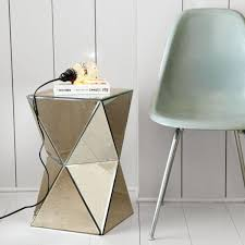 furniture octagonal top mirrored accent table for home furniture