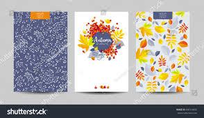 vector set autumn foliage backgrounds wedding stock vector