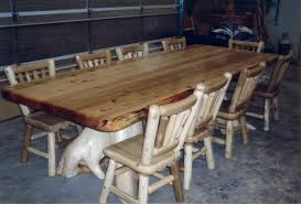 Explore Rustic Log Dining  Game Roon Table Sets - Dining room furniture michigan