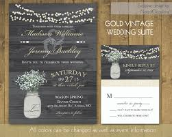 jar wedding invitations rustic wedding invitations in gold with jar 2227402 weddbook