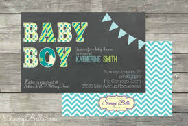 baby shower koozies baby shower invitation with chalkboard blue and green