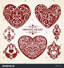 vector set ornamental decorative design stock vector
