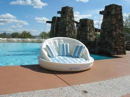 sofa lounge 68 white blue and green striped inflatable floating swimming pool