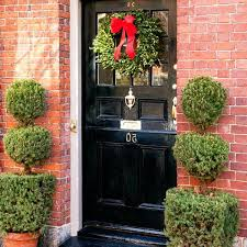Red Ribbon Door Decorating Ideas Great Christmas Door Decoration Hum Ideas