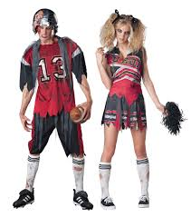 cheerleader halloween costumes zombie american footballer or cheerleader halloween fancy dress