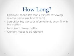 Resume 1 Or 2 Pages How To Write An Effective Resume Ppt Video Online Download