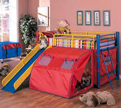 Fort Bunk Bed Primary Colors Tent Loft Bunk Bed Fort With Slide 7239 Coaster