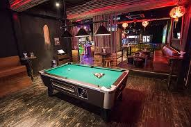 Pool Table And Dining Table by Dining Room Amazing Sports Bar Home Theater Contemporary With