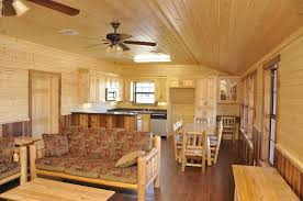 interior shot of the double wide log cabin www ulrichlogcabins