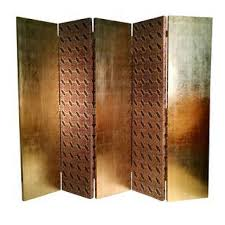 Gold Room Divider by Vintage U0026 Used Tan Screens And Room Dividers Chairish