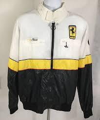 ferrari jacket style auto racing vintage ferrari jacket size xl with hoodie black