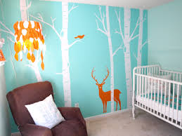 bedroom white tree baby room wall mural rectangular white iron