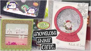 diy snowglobe card shaker cards for christmas holidays