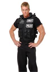 swat team vest costume accessory police cop halloween fancy