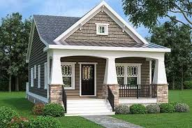 one craftsman home plans plan 75565gb 2 bed bungalow house plan with vaulted family room