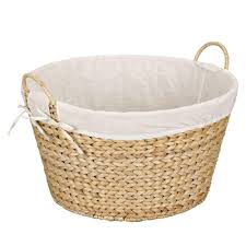wicker laundry baskets laundry room storage the home depot