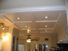 Spot Lights Ceiling Custom Coffered Kitchen Ceiling W Spotlights For The Home