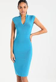 karen millen sporty panel collection shift dress blue