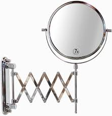 magnifying bathroom mirror on stand home design ideas realie