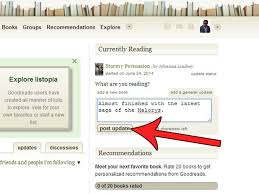 how to post a general status message update on goodreads 7 steps