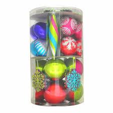 trim a home assorted shapes shatterproof christmas ornament set