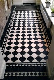 Gloss Tile Effect Laminate Flooring Black And White Tile Laminate Flooring