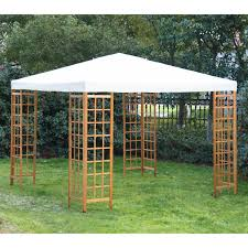 Patio Gazebo 10 X 10 by Wood Gazebo Tent 10 X 10 Ft Canopy Roof Cover Outdoor Patio Garden