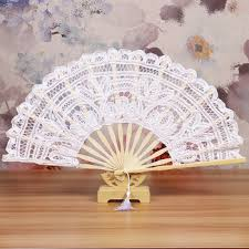 hand fans for sale hotsale ladies wedding hand fan white lace wedding fans bamboo lace