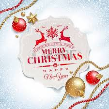 vector christmas greeting card holidays lettering on a winter