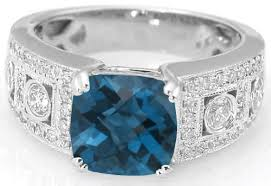 blue london rings images Cushion cut london blue topaz ring with milgrain edging in 14k gr jpg