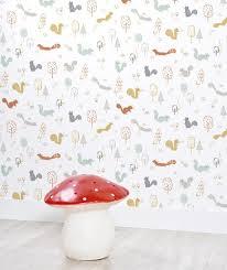 chambre bébé papier peint papier peint chambre bebe forêt arbres chambre