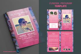 funeral program template youtube