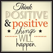 Meme Font Style - think positive and positive thingd will happen stock vector