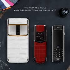 vertu bentley red vertu